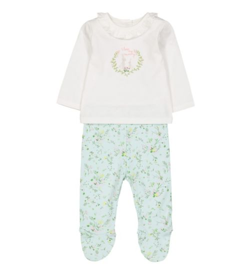 Clothing, Shoes & Accessories Obliging Ted Baker Baby Girl Sleepsuit Newborn Floral Baby Grow ???????? Baby & Toddler Clothing