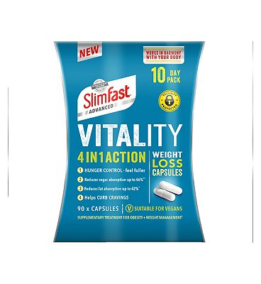Slimfast Advanced Vitality 4 in 1 Action Weight Loss Capsules 10 Day Pack