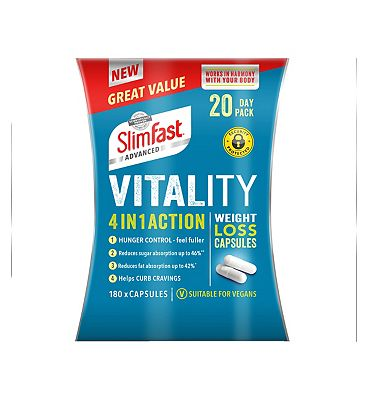 Slimfast Advanced 4 in 1 Action Weight Loss Capsules 20 Day Pack