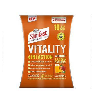 Slimfast Advanced 4 in 1 Action Weight Loss Sachets 10 Day Pack
