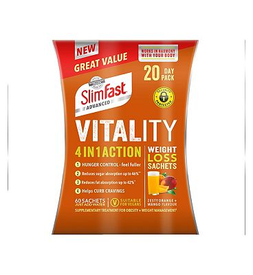 Slimfast Advanced 4 in 1 Action Weight Loss Sachets 20 Day Pack