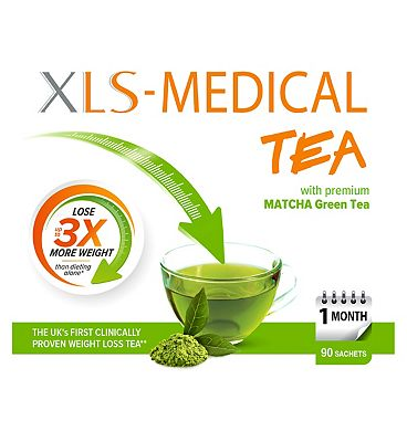 XLS-Medical Tea with Premium Matcha Green Tea - 90 sachets