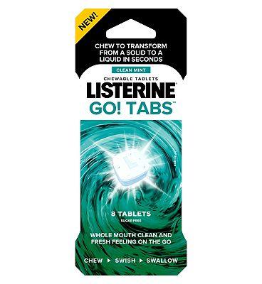 Listerine Go! Tabs 8 Pack