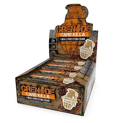 Grenade Carb Killa High Protein Bar - Caramel Chaos 12 x 60g bars