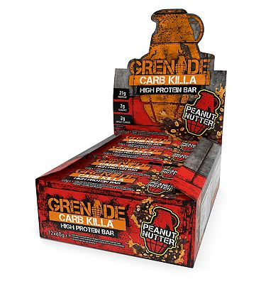 Grenade Carb Killa High Protein Bar Peanut Nutter 12 x 60g bars