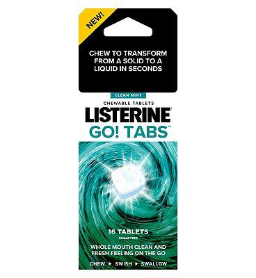 Listerine Go! Tabs 16 Pack