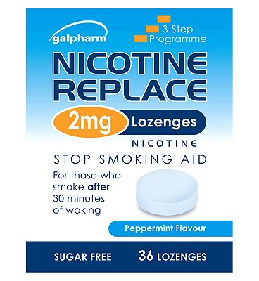 Galpharm Nicotine Replace 2mg Peppermint Flavour 36 Lozenges