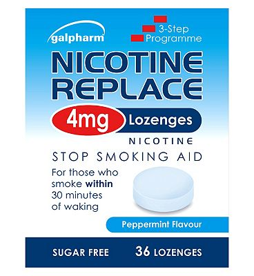 Galpharm Nicotine Replace 4mg Peppermint Flavour 36 Lozenges