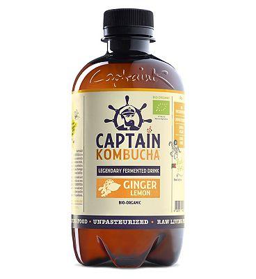 Captain Kombucha Ginger Lemon 400ml
