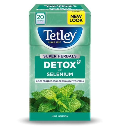 Tetley Super Herbals Detox with Selenium - 20 Tea Bags