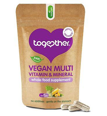 Together Vitamin B12 Multi Vit & Mineral for Vegetarians & Vegans 60 vegecaps