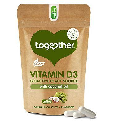 Together Vegan Vitamin D3 30 vegecaps