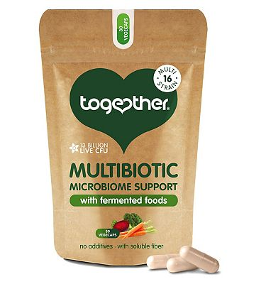 Together Multibiotic Microbiome Support with Fermented Foods - 30 Vegecaps