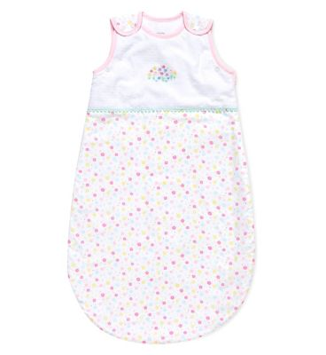 Mothercare confetti party sleeping bag 0-6m 2.5