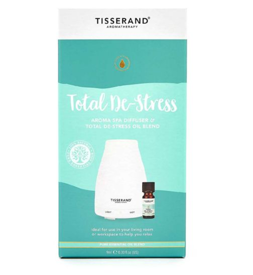 Tisserand Aromatherapy Total De-Stress Aroma Spa Diffuser & Total De-Stress Oil Blend