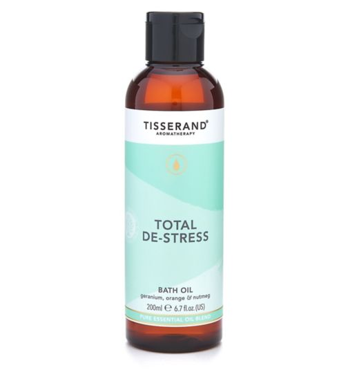 Tisserand Aromatherapy Total De-Stress Bath Oil - 200ml