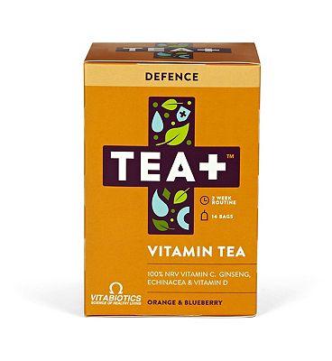 Vitabiotics TEA+ Vitamin Tea Defence - Orange & Blueberry