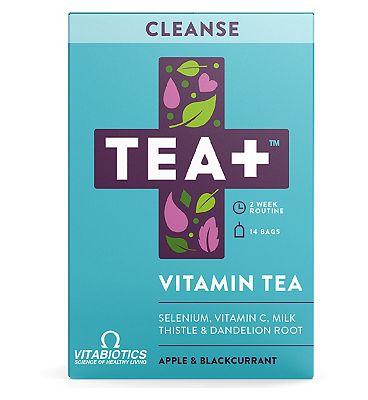 Vitabiotics TEA+ Vitamin Tea Cleanse - Apple & Blackcurrant