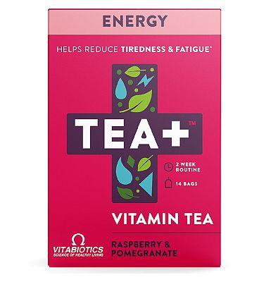 Vitabiotics TEA+ Vitamin Tea Energy - Raspberry & Pomegranate