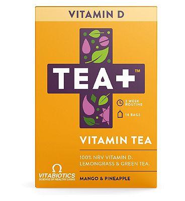 Vitabiotics TEA+ Vitamin Tea Vitamin D - Mango & Pineapple