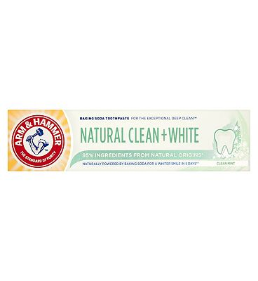 Arm & Hammer Natural Clean + White Baking Soda Toothpaste Clean Mint 75ml