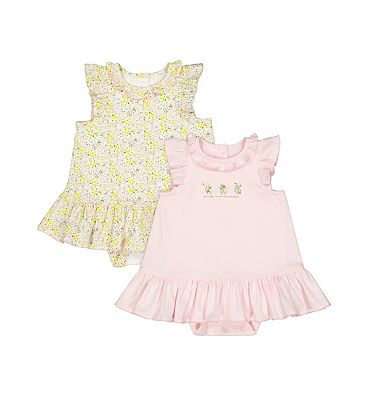mini club 2 pack jersey dresses