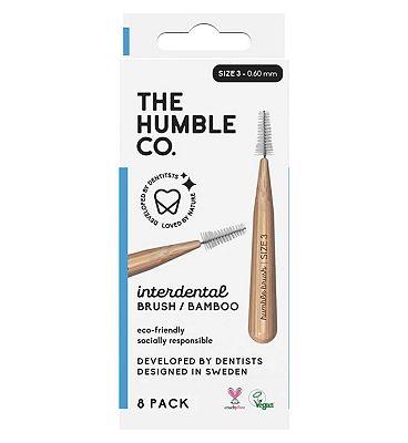 Humble Bamboo Interdental Brush 0.6mm 8 Pack