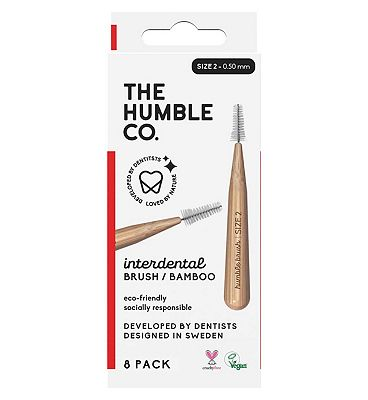 Humble Bamboo Interdental Brush 0.5mm 8 Pack