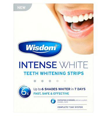 Wisdom Intense White Teeth Whitening Strips 7 Days