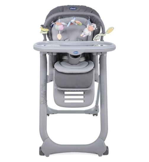 Chicco Polly Magic Relax Highchair - 4 Wheels Graphite