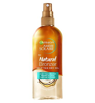 Ambre Solaire Natural Bronzer Self Tan Dry Oil 150ml