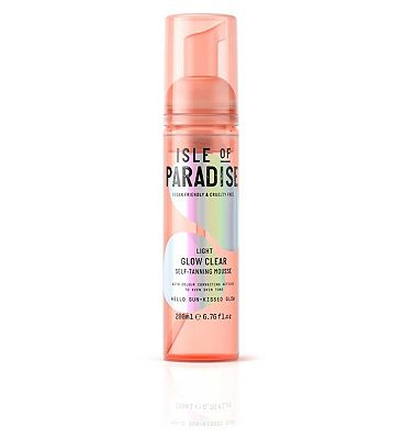 Isle Of Paradise Glow Clear Self Tanning Mousse Light 200ml