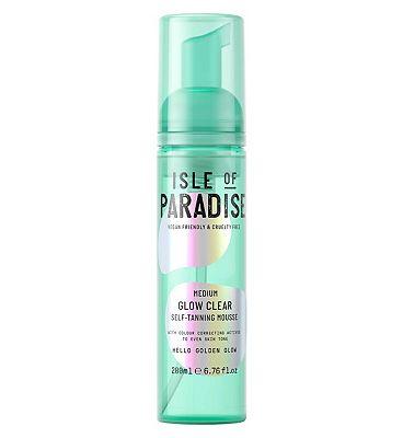 Isle Of Paradise Glow Clear Self Tanning Mousse Medium 200ml