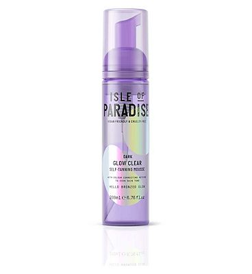 Isle Of Paradise Glow Clear Self Tanning Mousse Dark 200ml