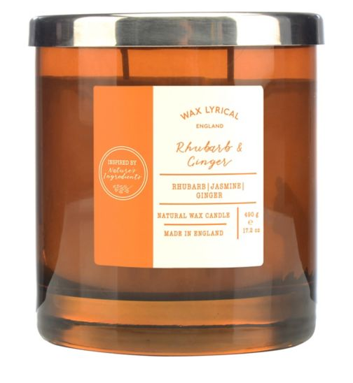 9f558aee8 Wax Lyrical Nature s Ingredients Rhubarb   Ginger Twin Wick Candle
