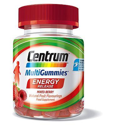 Centrum MultiGummies Energy Release Mixed Berry - 30 Gummies