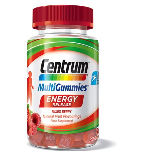 Centrum MultiGummies Energy Release Mixed Berry - 60 Gummies