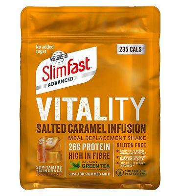SlimFast Advanced Vitality Shake - Salted Caramel 400g