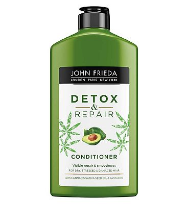 John Frieda Detox & Repair Conditioner 250ml for Dry, Stressed & Damaged Hair