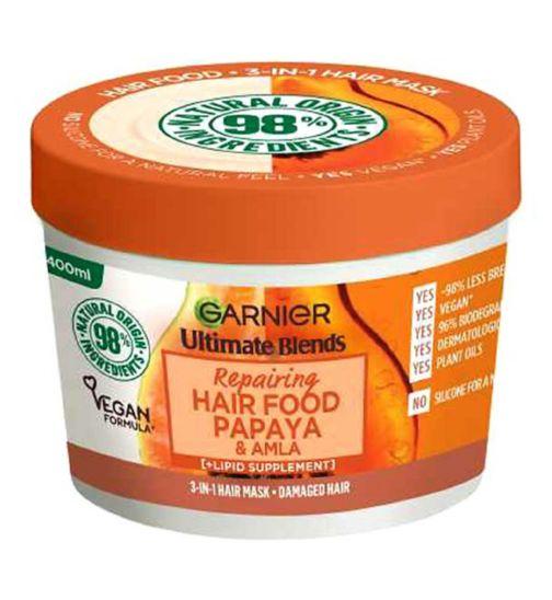 Garnier Ultimate Blends Hair Food Papaya 3-in-1 Hair Mask Treatment for Damaged Hair 390ml