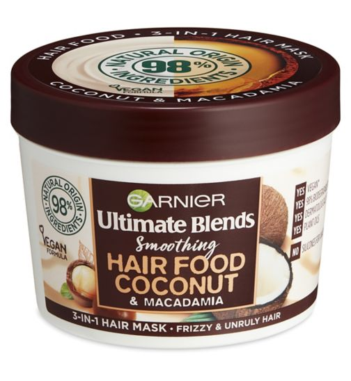 Garnier Ultimate Blends Hair Food Coconut Oil 3-in-1 Hair Mask Treatment for Curly Hair 390ml