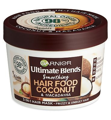 Image of Garnier Ultimate Blends Hair Food Coconut Oil 3-in-1 Hair Mask Treatment for Curly Hair 390ml