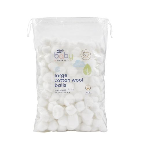 Boots Baby Large Cotton Wool Balls 200 pack