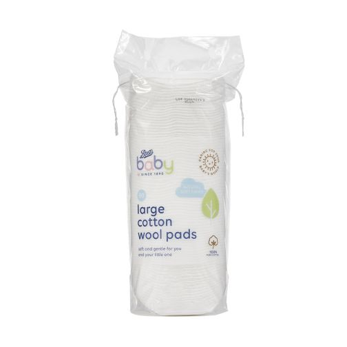 Boots Baby Large Cotton Wool Pads 80 pack