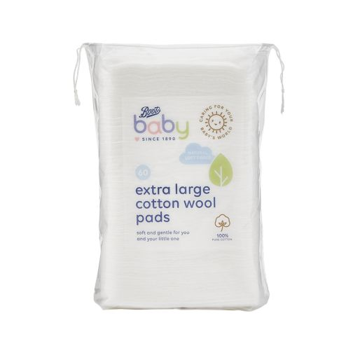 Boots Baby Extra Large Cotton Wool Pads 60 pack