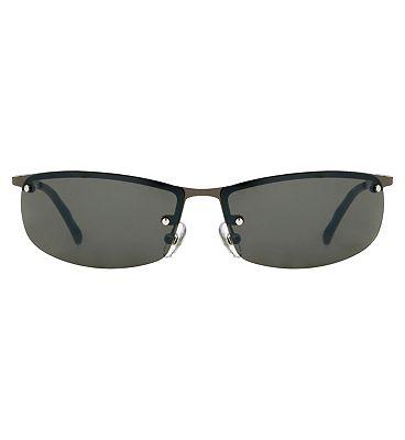 Boots Active Sunglasses - Rimless Gunmetal Frame