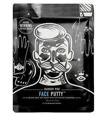 Barber Pro Face Putty Black Peel Mask x3