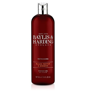 Baylis & Harding Black Pepper & Ginseng Shower Gel 500ml