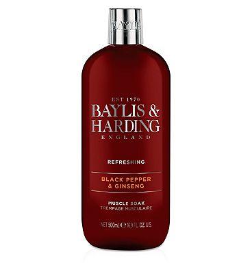 Baylis & Harding Black Pepper & Ginseng Muscle Soak 500ml