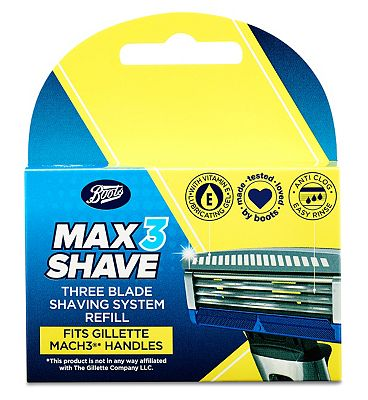 Image of Boots Max3 Shave Three Blade Shaving System Refill